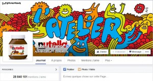 Page Facebook Nutella France
