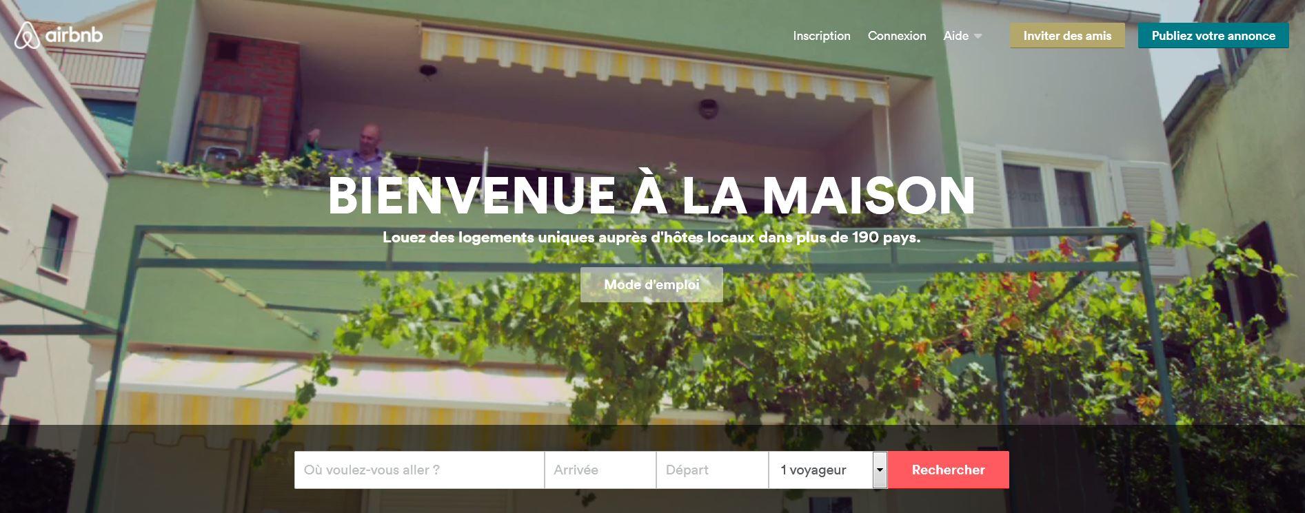 nouveau site airbnb