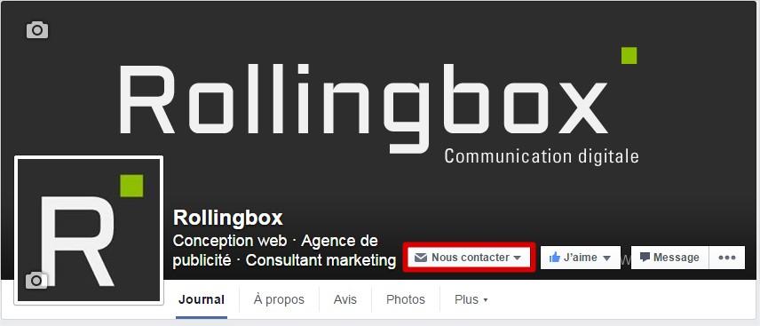 Bouton nous contacter Facebook