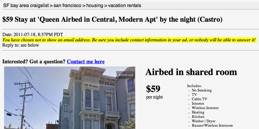 growth hacking airbnb craiglist
