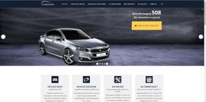 Capture d'écran site internet Peugeot Cabailh