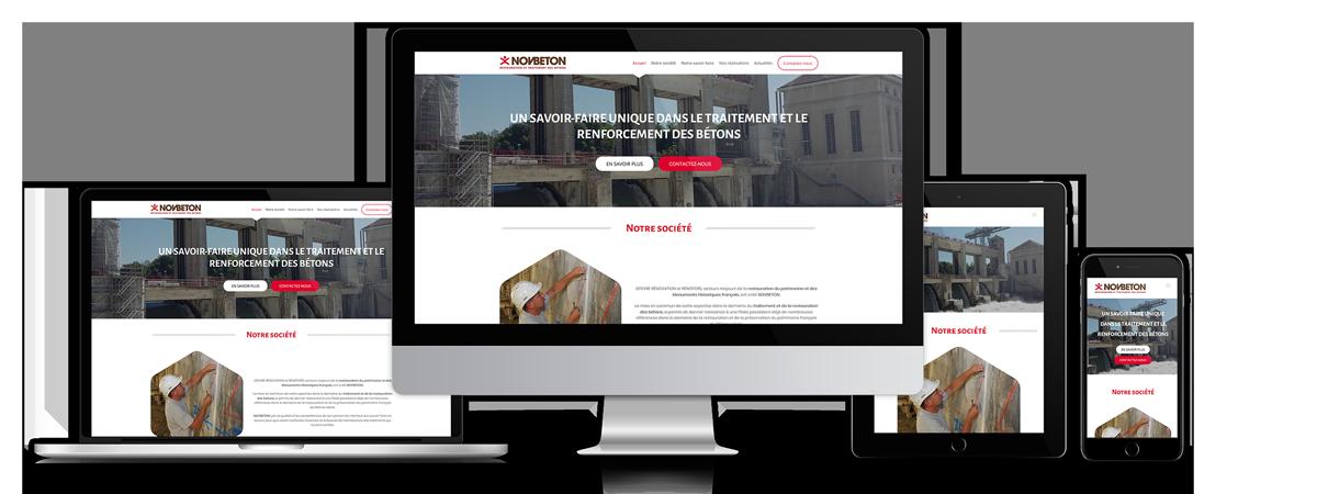 Novbeton - Site internet
