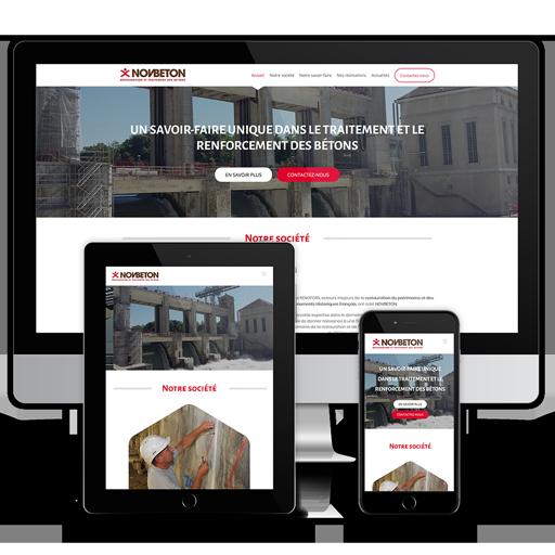 Novbeton - Site internet vitrine