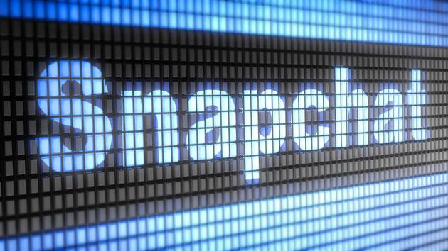 écran avec marqué le nom de snapchat